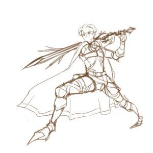 魔法騎士-人物設計動作